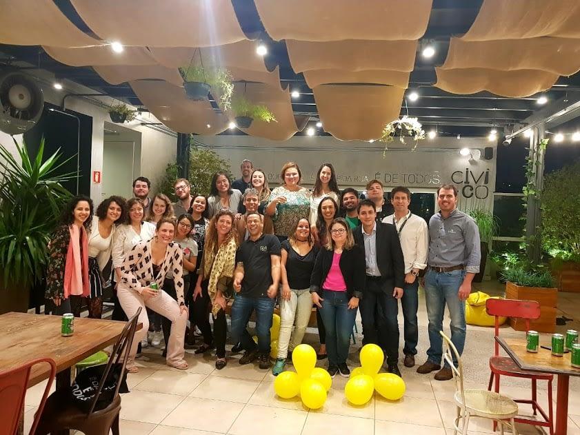 Comemoração de 1 ano de Oficina de Impacto com nossos colegas empreendedores do CIVI-CO